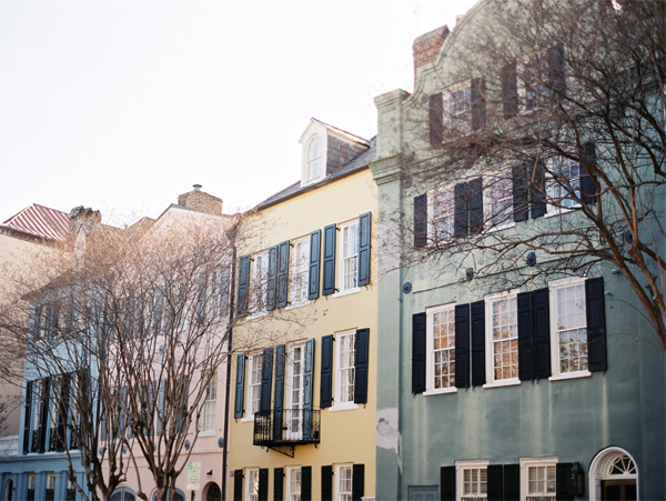 Charleston on Contax - rainbow row | Stefanie Kapra Photography South Carolina Weddings