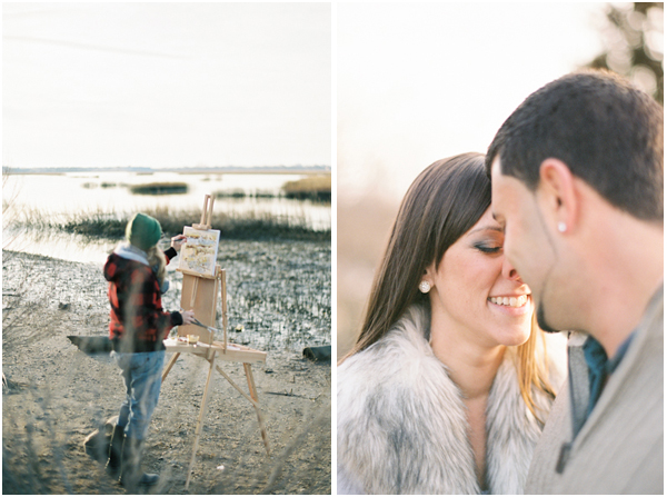 Film analog Contax 645 CT Engagement photos | Stefanie Kapra Wedding Photography South Carolina and Connecticut