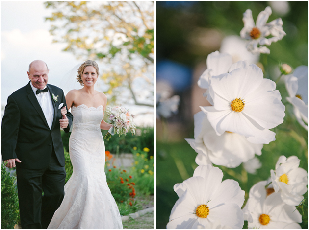 wedding outdoors father and bride Stefanie Kapra CT Fine Art wedding Photographer ny sc