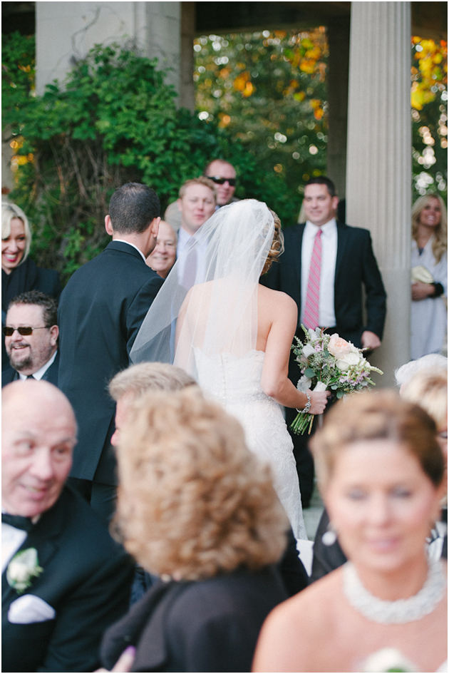 Harkness wedding ceremony outdoors Stefanie Kapra CT Fine Art film wedding Photographer ny sc
