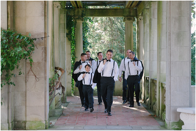 bridal party groomsmen Stefanie Kapra CT Fine Art film wedding Photographer ny sc