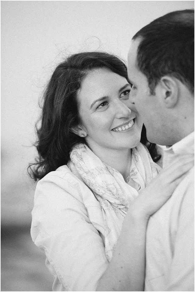 Fine art  wedding photographer Stefanie Kapra Photo black and white film engagement photos Stonington CT