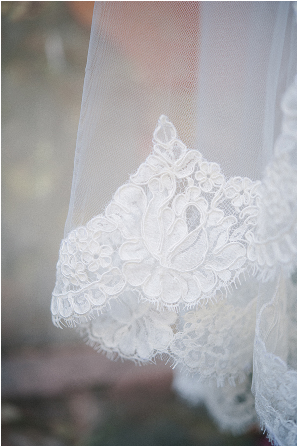 veils with lace charleston South Carolina wedding photographer Stefanie Kapra