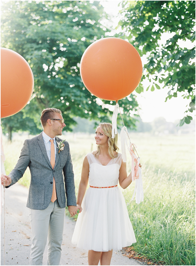 Stefanie Kapra Photo - bohemian wedding with balloons - Destination wedding film photographer contax