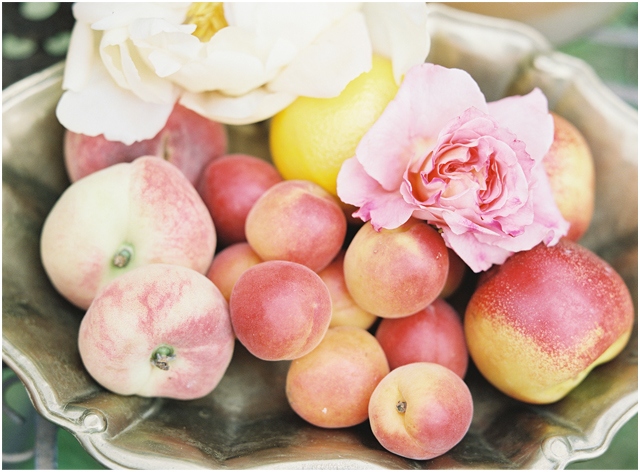 Stefanie Kapra Photo - bohemian wedding fruits - Destination wedding film photographer contax