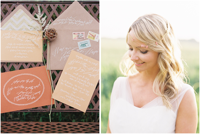 Stefanie Kapra Photo - bohemian wedding calligraphy - Destination wedding film photographer contax