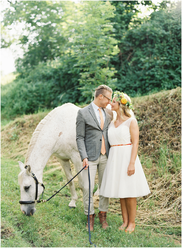 Stefanie Kapra Photo - bohemian wedding with horse - Destination wedding film photographer contax