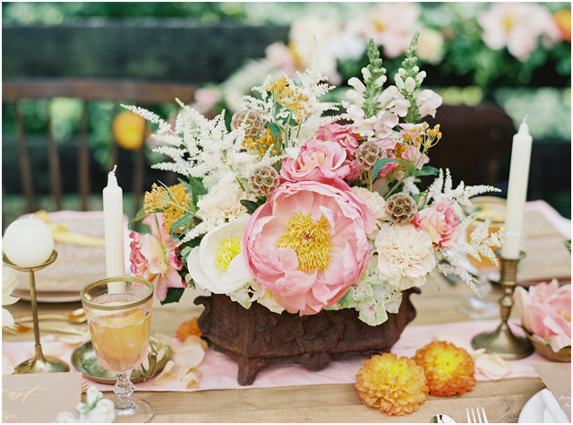 Stefanie Kapra Photo - bohemian wedding rustic table setting - Destination wedding film photographer contax