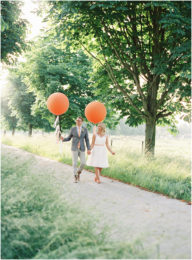 Stefanie Kapra Photo - boho wedding with balloons - Destination weddings - fine art film photographer