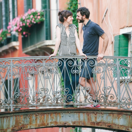 Venice engagement photos Italy